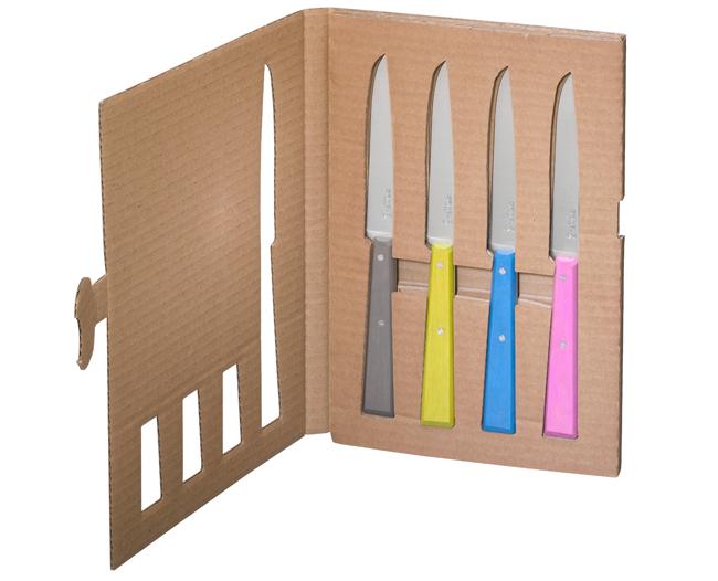 Opinel box 4 coltelli da tavola for Coltelli da tavola opinel